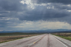 Stormy Road Royalty Free Stock Image