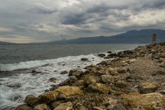 Stormy rocky Coast Stock Photo