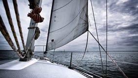 Stormy Sailing Stock Photo