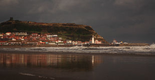 Stormy Scarborough Royalty Free Stock Images