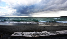 Stormy Sea. Taken in New Zealand's North Island near Matamata Royalty Free Stock Photography