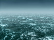 Stormy sea. Light storm in the sea Royalty Free Stock Image