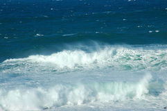 Stormy sea. Indian Ocean high tide at Schoenmakerskop beach, Port Elizabeth, South Africa. A rough and stormy sea Stock Photo
