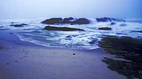 Stormy Sea. Stormy and misty beach scene Royalty Free Stock Image