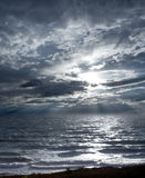 Stormy sea. And sky an hour before sunset Stock Photo