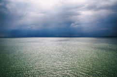 Stormy Sea Background. Photo of Landscape of Dark Stormy Sea Background Royalty Free Stock Photo