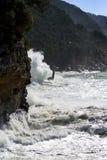 Stormy sea, italian coastline Royalty Free Stock Photo