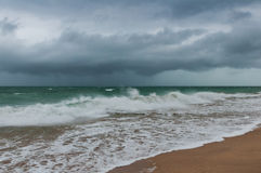 Stormy sea and cloudy sky Stock Photo