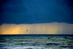 Stormy sea. Stormy and colorful sea at spring time Stock Photo