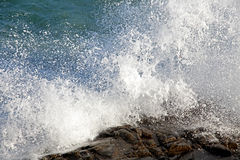 Stormy sea at Crete royalty free stock photo