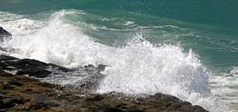 Stormy sea at Crete royalty free stock image