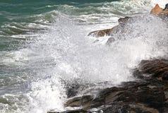 Stormy sea at Crete Stock Image