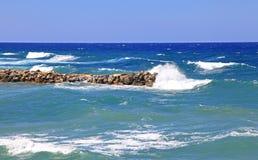 Stormy sea at Crete Stock Photos