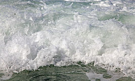 Stormy sea at Crete Stock Photo