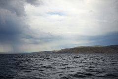 Stormy sea,Croatia Stock Images