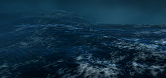 The stormy sea.3d render. Nature Stock Photos