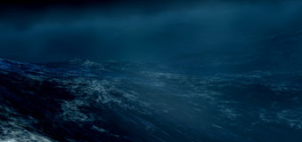The stormy sea.3d render. Nature Royalty Free Stock Photography