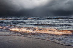 Stormy sea. Royalty Free Stock Photography