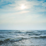 Stormy sea and dramatic sky Royalty Free Stock Photography