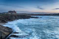 Stormy Sea at Fistral Beach Royalty Free Stock Images