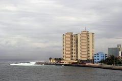 Stormy sea, Havana, Cuba Stock Images