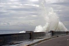Stormy sea, Havana, Cuba Stock Photography