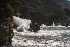 Stormy sea, italian coastline Stock Image