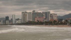Stormy Sea Nha Trang Vietnam HD Time Lapse stock video