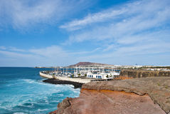 Stormy Sea at Playa Blanca Stock Photos