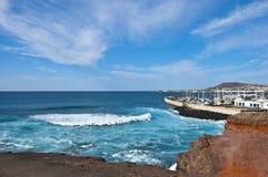 Stormy Sea at Playa Blanca Royalty Free Stock Photo