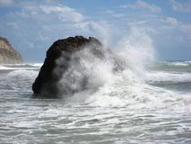 Stormy sea, Rock of Aphrodite Royalty Free Stock Photos
