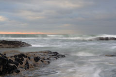 Stormy Sea, Trebarwith Strand, Cornwall. Royalty Free Stock Photography
