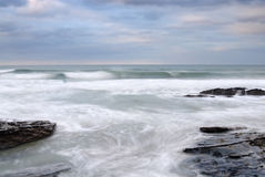 Stormy Sea, Trebarwith Strand, Cornwall. Royalty Free Stock Image