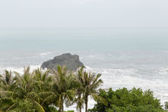 Stormy sea during typhoon Stock Photography