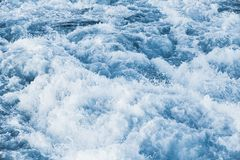 Stormy sea water with splashes and foam Stock Image