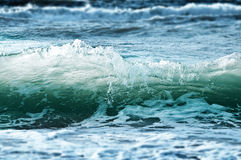 Stormy sea waves - blue and green background Royalty Free Stock Image