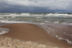 Stormy sea waves. Royalty Free Stock Photography