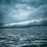 Stormy Sea. Wild Nature Dark Background. Stock Photo