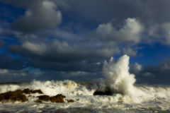 Stormy seas royalty free stock photography