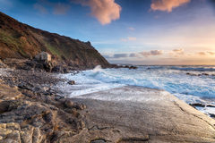 Stormy Seas at Cape Cornwall Royalty Free Stock Photography