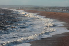 Stormy Seas. A stormy Day during Winter at Chesil Beach, Portland Uk Stock Image