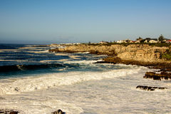 Stormy seas in Hermanus Royalty Free Stock Images