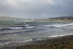 Stormy seas on the Isle of man Stock Image