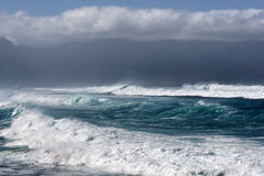 Stormy seas, North Shore of Maui, Hawaii Stock Image