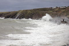 Stormy seas at Peel Isle of Man Royalty Free Stock Images