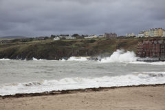 Stormy seas at Peel Isle of Man Stock Image