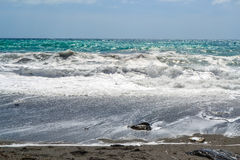 Stormy seascape in the city of Sory, Italy Royalty Free Stock Photo