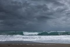 Stormy seascape Royalty Free Stock Image