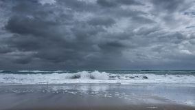 Stormy seascape Stock Photo