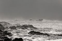 Stormy rocky coast Royalty Free Stock Photography